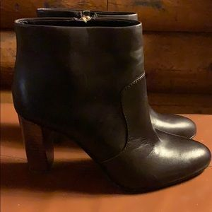Ann Taylor dark brown Carly Luther leather booties